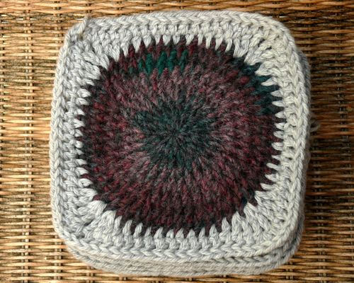 Crocheted squared circle