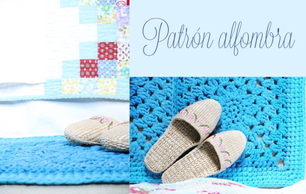 Patrón GRATIS alfombra crochet