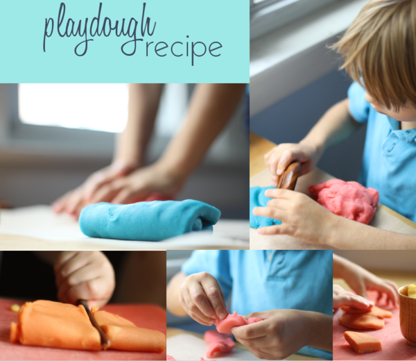 Make great playdough at home with your kids. Debajo un botón...