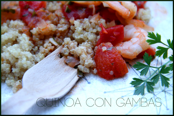 Receta quinoa con gambas