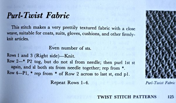 Purl-twist fabric