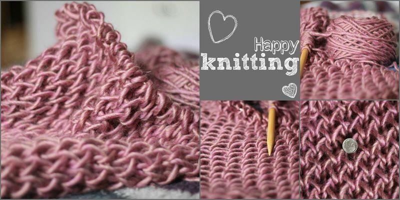 Happy blanket knitting