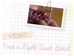 twisted stitch tutorial